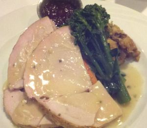 Herb roasted turkey, third course