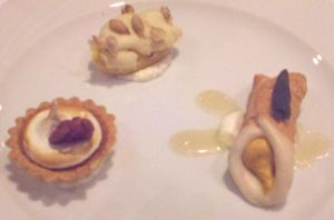 Pumpkin trio of desserts
