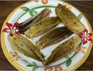Fragile, fragrant and delicious grilled endive