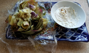 Cleanup is a snap, and there's more dipping sauce for artichoke #2.